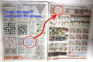 Invert newspaper