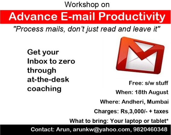 Economic Times Ad for Email Productivity as in 31st July Page 12